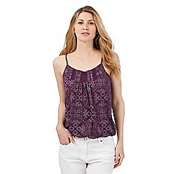 The Collection - Dark purple dot patterned vest top