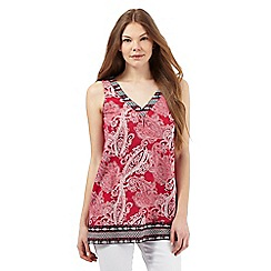 The Collection - Red paisley print tunic
