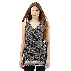 The Collection - Navy paisley print tunic