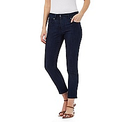 The Collection - Dark blue skinny ankle grazer zip detail jeans