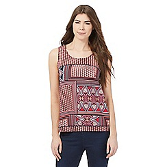 The Collection - Dark pink printed sleeveless top