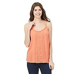The Collection - Peach floral lace vest