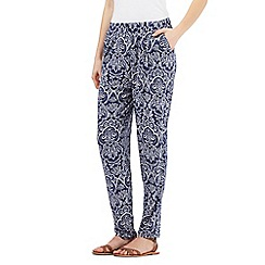The Collection - Royal blue baroque print trousers
