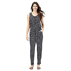 The Collection - Navy motif print jumpsuit