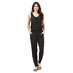 The Collection - Black fleur de lis jumpsuit
