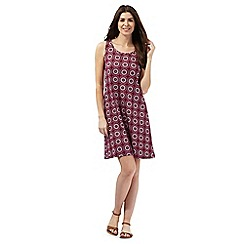 The Collection - Pink tile print jersey dress