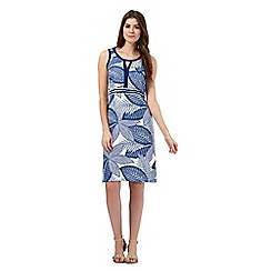 The Collection - Blue leaf print dress