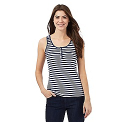 The Collection - Navy and white striped print vest top