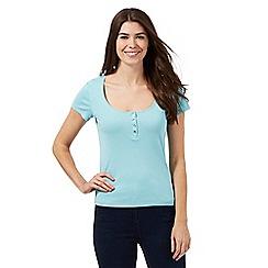 The Collection - Aqua plain scoop neck t-shirt
