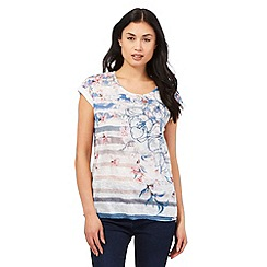 The Collection - Multi-coloured floral striped print top