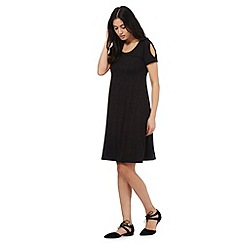 The Collection - Black cold shoulder jersey dress