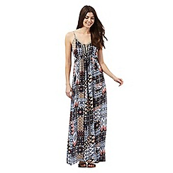 The Collection - Multi-coloured mosaic print cami maxi dress