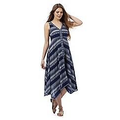 The Collection - Blue Aztec print maxi dress