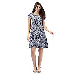 The Collection - Blue printed swing dress