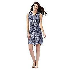 The Collection - Blue Aztec print shirt dress
