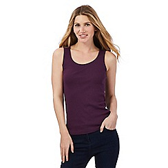 The Collection - Dark purple scoop neck vest top