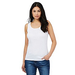 The Collection - White scoop neck vest