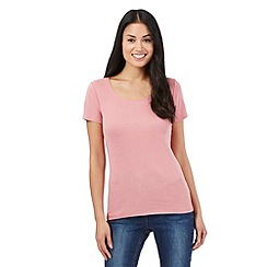 The Collection - Light pink scoop neck t-shirt