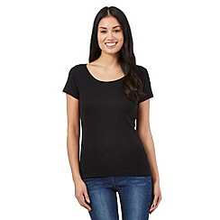 The Collection - Black scoop neck t-shirt