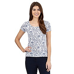 The Collection - Light blue sketch rose print top