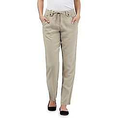 The Collection - Beige linen blend trouser