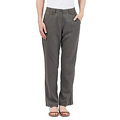 The Collection - Dark grey linen blend trouser