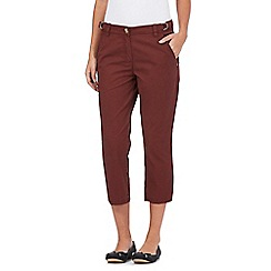 The Collection - Dark red cropped chinos