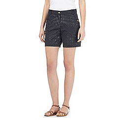 The Collection - Navy polka dot chino shorts