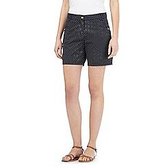 The Collection - Navy polka dot chino shorts