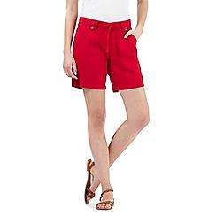 The Collection - Terracotta linen blend shorts