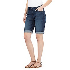 The Collection - Blue mid-wash denim boyfriend shorts