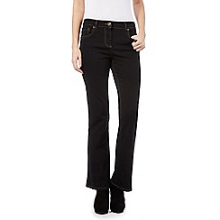 The Collection - Black stretch bootcut jeans