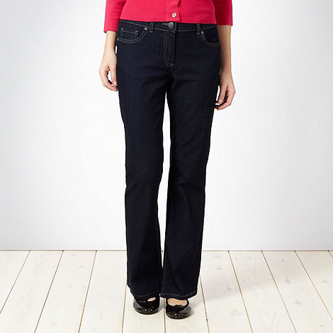 The Collection - Dark blue stretch bootcut jeans