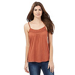 The Collection - Brown bead embellished neck cami top
