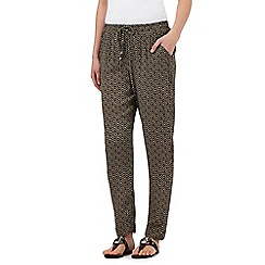 The Collection - Black and beige tiled print trousers