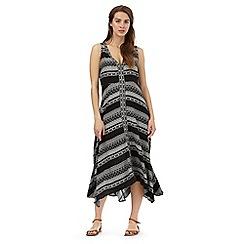 The Collection - Black Aztec print hanky hem dress