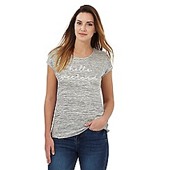 The Collection - Grey 'Hello weekend' top