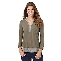 The Collection - Khaki 2-in-1 cotton top