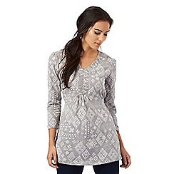 The Collection - Grey diamond print tunic