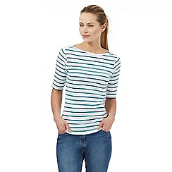 The Collection - Dark turquoise striped print top