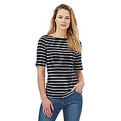 The Collection - Navy striped print top