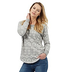 The Collection - Grey tiled jacquard sweater