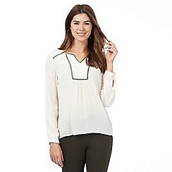 The Collection - Cream peasant top