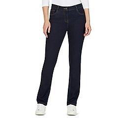 The Collection Petite - Dark blue straight leg jeans