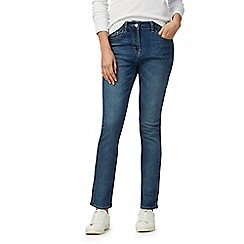 The Collection Petite - Light blue mid rise straight leg jeans