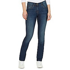 The Collection Petite - Blue straight leg jeans