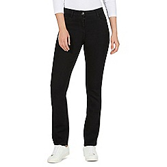 The Collection Petite - Black straight leg jeans