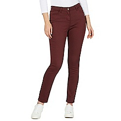 The Collection - Dark red slim fit jeggings