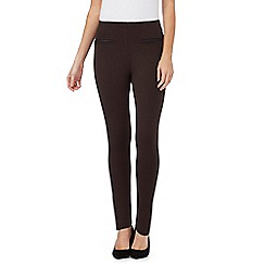 The Collection - Brown pocket trim leggings