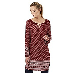 The Collection - Red diamond print tunic